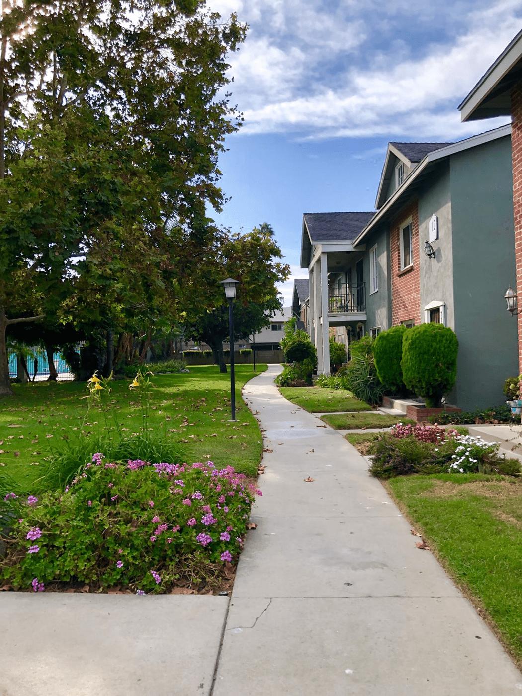 stunning residential neighborhood with fresh green grass and modern properties