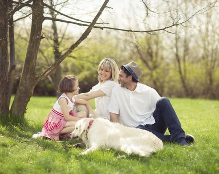 a family in a park