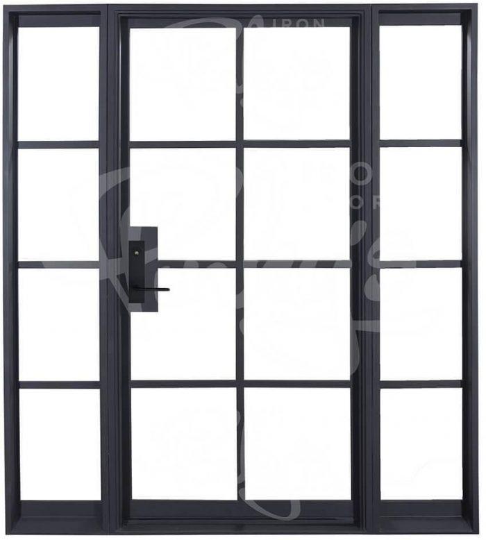 A flat-top steel door