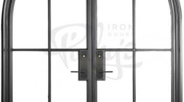 Steel door with glass incorporation