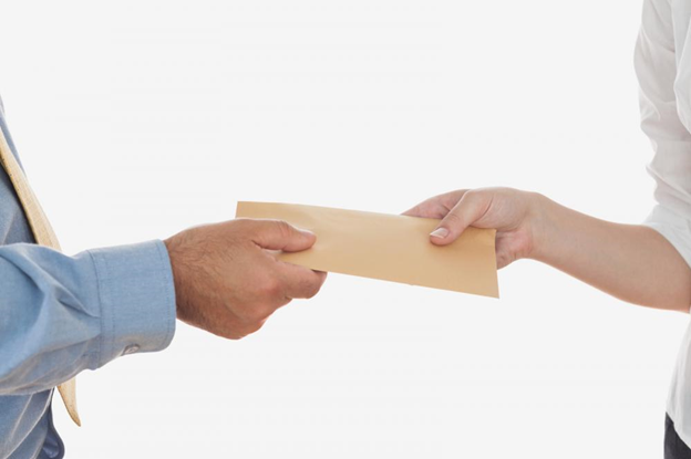 A property manager collecting rent on behalf of the owner