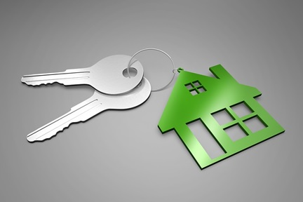 Real estate property and keys