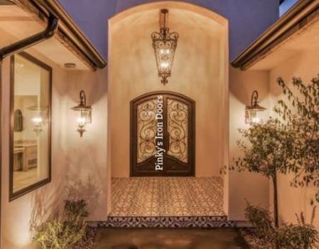 wrought-iron home front door
