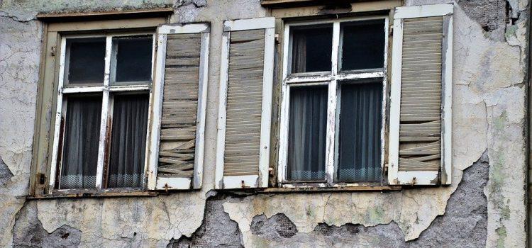 cracked and broken walls