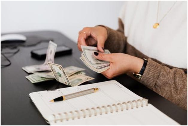 A person lending money