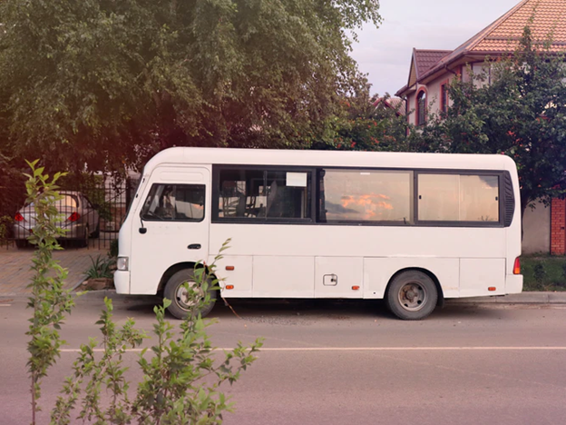 A church bus for transporting members