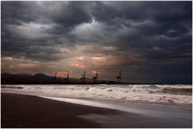 Drilling near the seashore