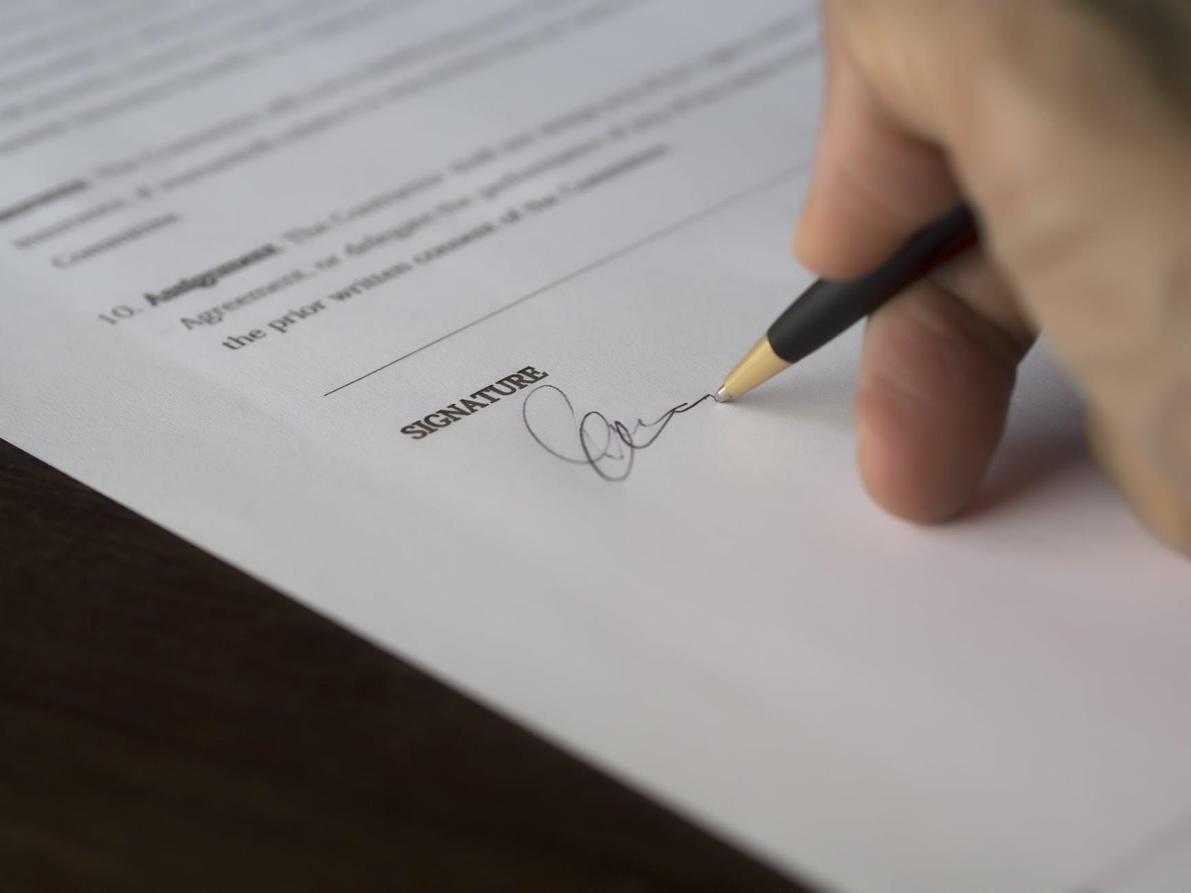 agreement blur business close-up