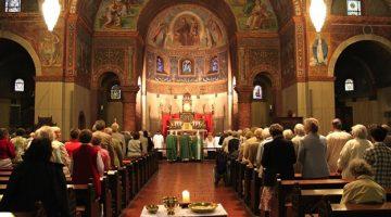 A Sunday church service