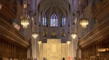 Inside view of the Washington National Cathedral