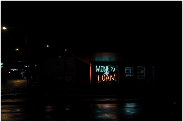 Money to Loan neon sign